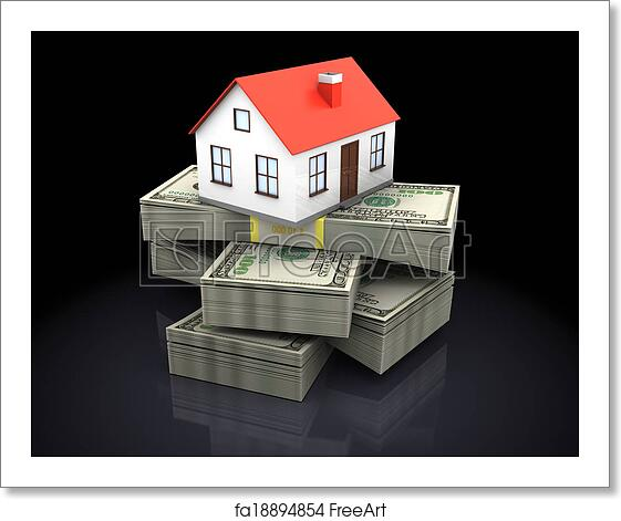 Free Art Print Of House And Money
