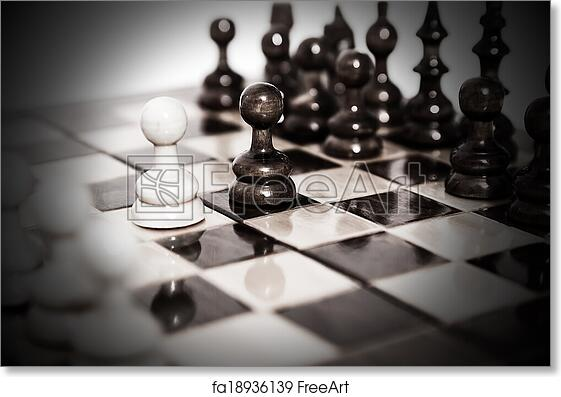 picture about Printable Chess Board called No cost artwork print of Chess board just after very first stream
