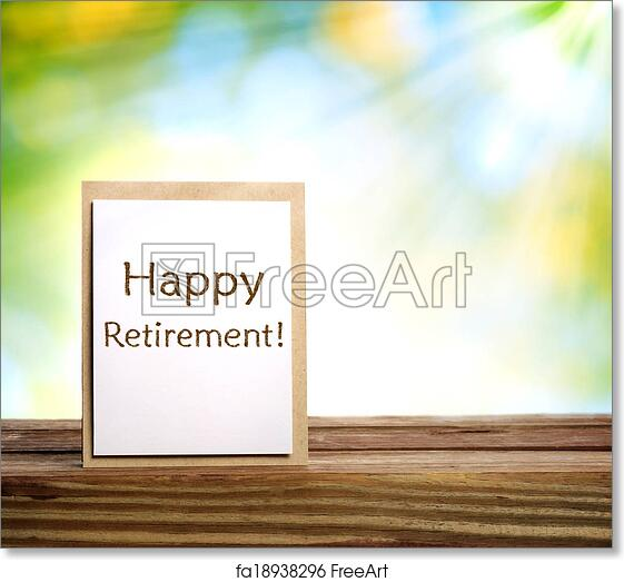 picture regarding Retirement Card Printable identify Totally free artwork print of Satisfied retirement card upon vivid eco-friendly history