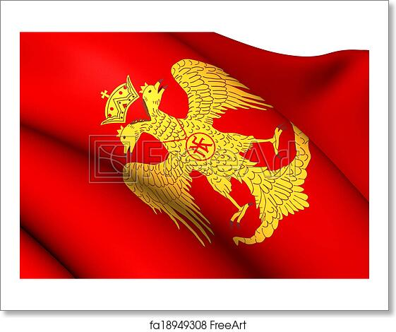 free art print of byzantine eagle flag of palaiologos dynasty