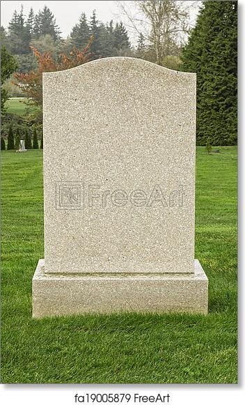 Free art print of Blank Tombstone. Tombstone in the Cemetery ...