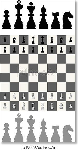 photo about Printable Chess Pieces known as Absolutely free artwork print of Chess fastened