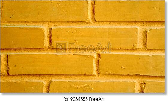Free art print of Vibrant yellow brick wall as a background ...