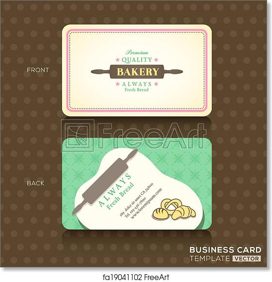 Free Art Print Of Retro Vintage Business Card For Bakery House
