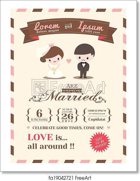 Free Art Print Of Wedding Invitation Card Template Wedding