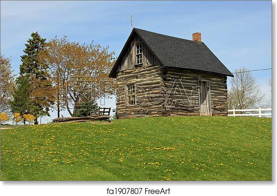 Free art print of Pioneer Log Cabin in the Midwest