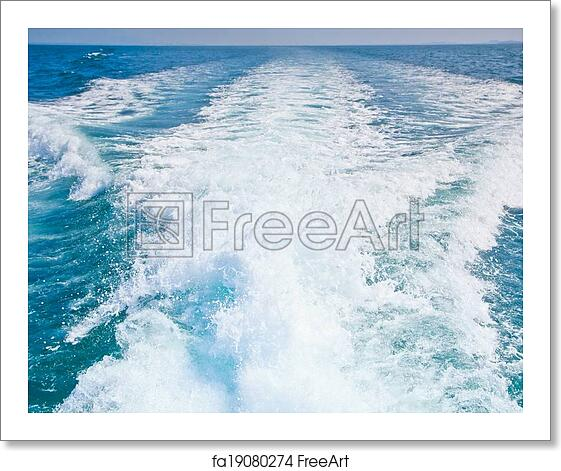 Free art print of Wake caused by cruise ship