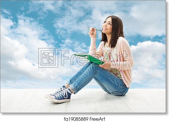 Free art print of Girl teenager thinking inspiration or ...