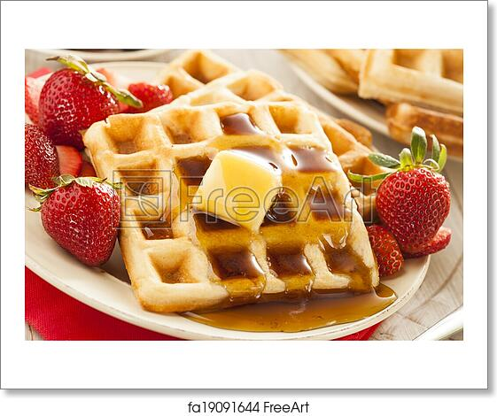 art print of Homemade Belgian Waffles