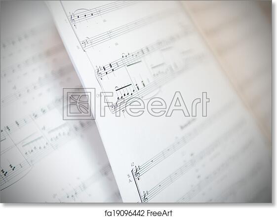 free art print of written music notation sheet written music