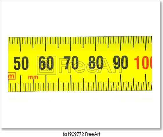 Free Art Print Of Measuring Tape A Measuring Tape Isolated Against