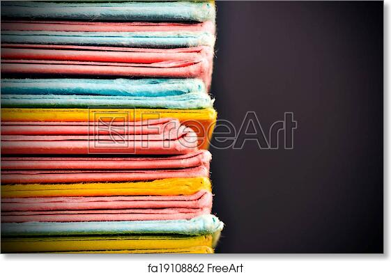 Free Art Print Of Colored Paper Files