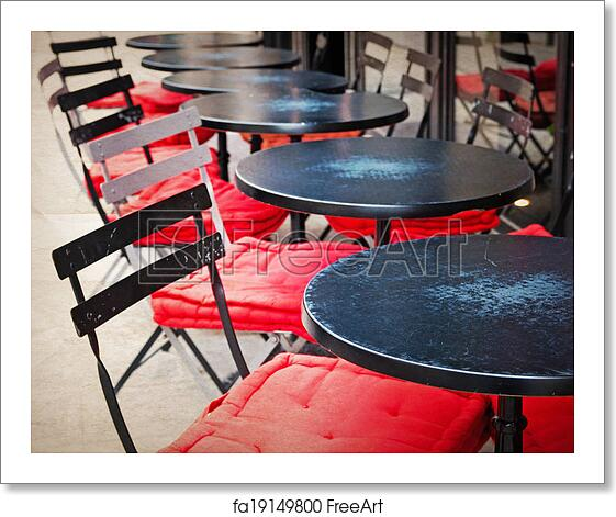 Free Art Print Of Old Fashioned Cafe Terrace Old Fashioned Coffee Terrace With Tables And