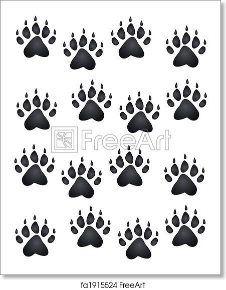 Free Art Print Of Bear Paw Print Bear Or Cub Paw Prints All