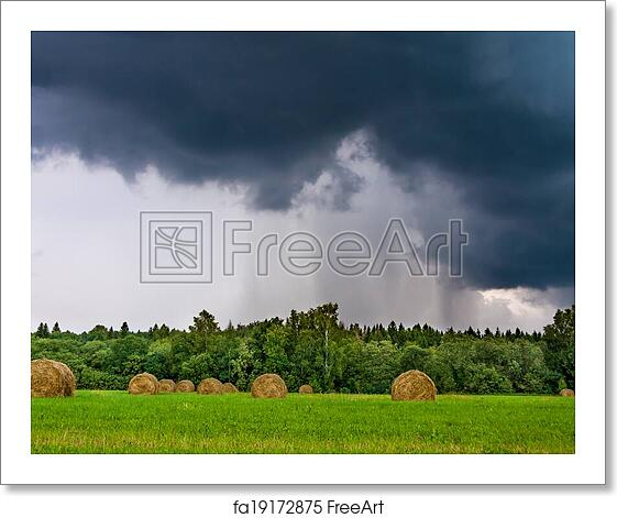 Free art print of Weather with clouds, a thunder storm and a rain