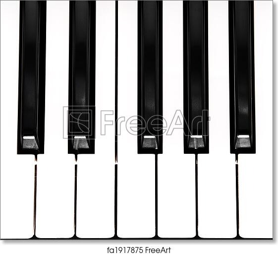 picture relating to Printable Piano Keyboard known as No cost artwork print of Piano keys
