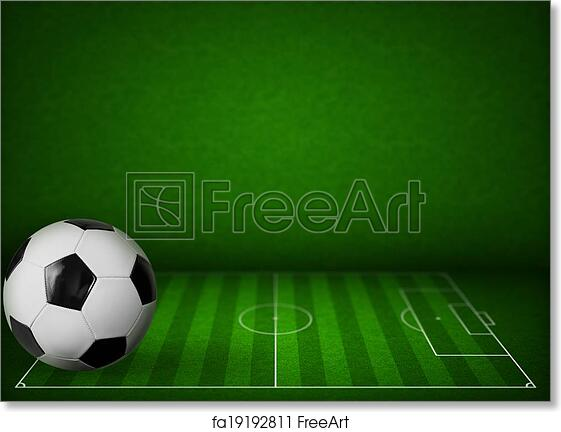 Free Art Print Of Grass Soccer Or Football Field Background With