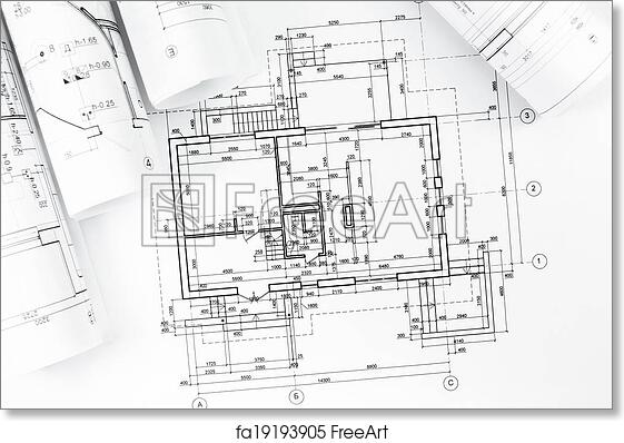 Free Art Print Of Architectural Plan Drawings Architectural