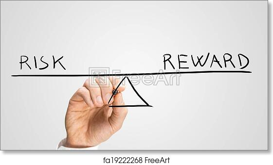 Free Art Print Of Diagram Of Seesaw Showing Risk And Reward Diagram