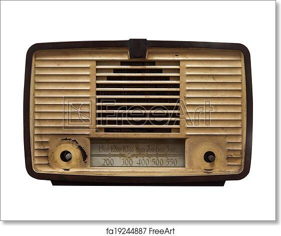 Free art print of Old radio