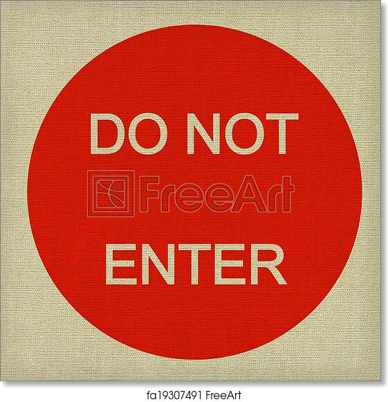 photograph regarding Do Not Enter Sign Printable titled Free of charge artwork print of Do not input indication upon darkish canvas history