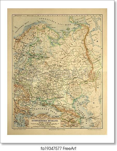 Free Art Print Of Old Map Of European Russia Original Print Made In