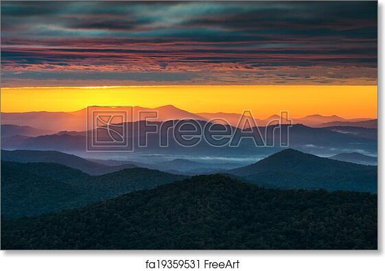 Free Art Print Of North Carolina Blue Ridge Parkway Sunrise Asheville Nc