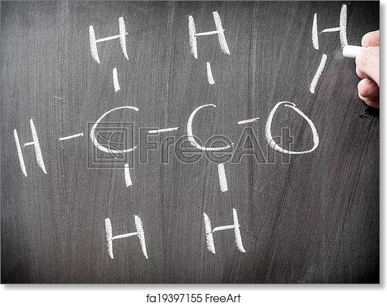 Free Art Print Of Alcohol Chemical Formula FreeArt Fa19397155
