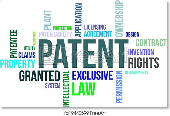 Free art print of Word cloud - patent. A word cloud of patent ...