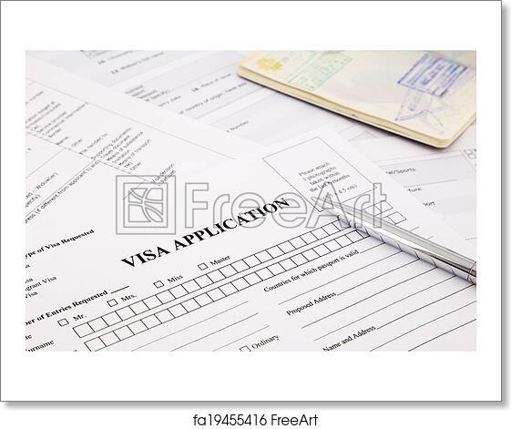 Free Art Print Of Visa Application Visa Application Form And