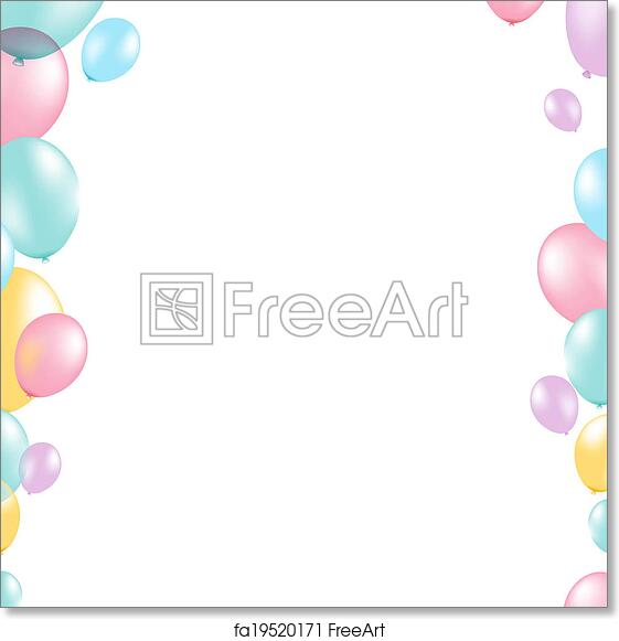Free art print of pastel balloon border pastel balloon border with free art print of pastel balloon border thecheapjerseys Gallery