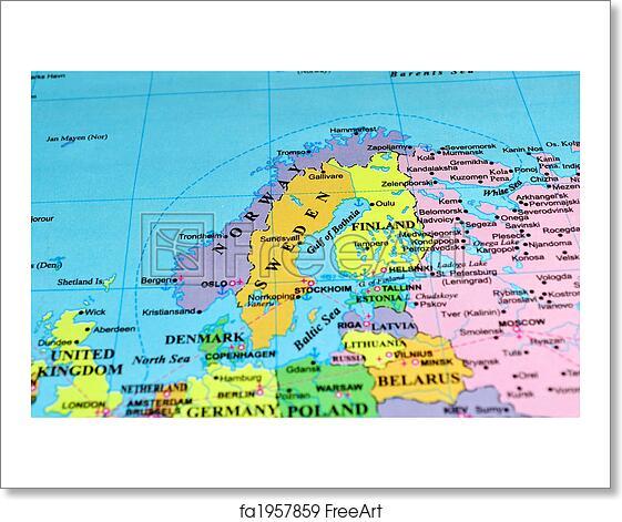 Sweet image pertaining to scandinavia map printable