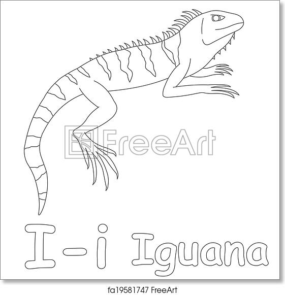 Free Art Print Of I For Iguana Coloring Page Freeart Fa19581747