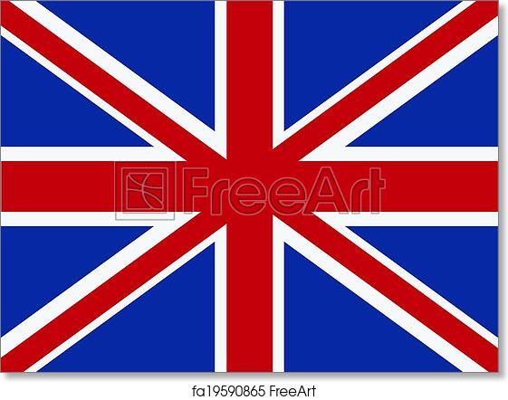 photograph relating to Printable British Flag called Absolutely free artwork print of Vector British flag.