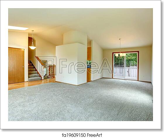 Empty Living Room: Free Art Print Of House Interior. Empty Living Room