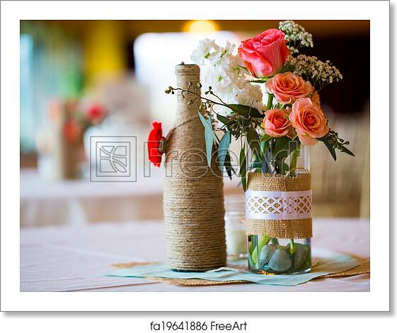 Free Art Print Of Wedding Reception Table Centerpieces Diy Wedding