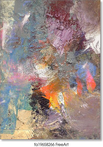 Free art print of Abstract oil painting on canvas Abstract