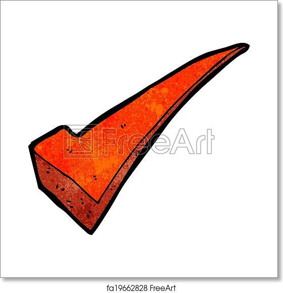 Free art print of Cartoon tick symbol
