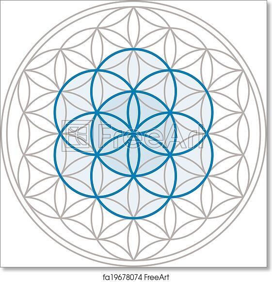 Free art print of Seed Of Life In Flower Of Life