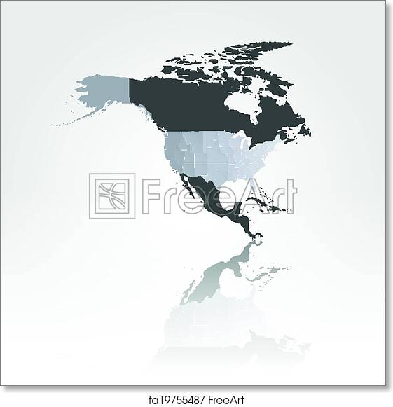 Free art print of North america map background vector. North america ...