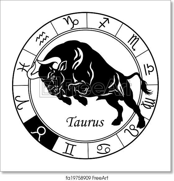 Free Art Print Of Taurus Zodiac Black White Taurus Or Ox