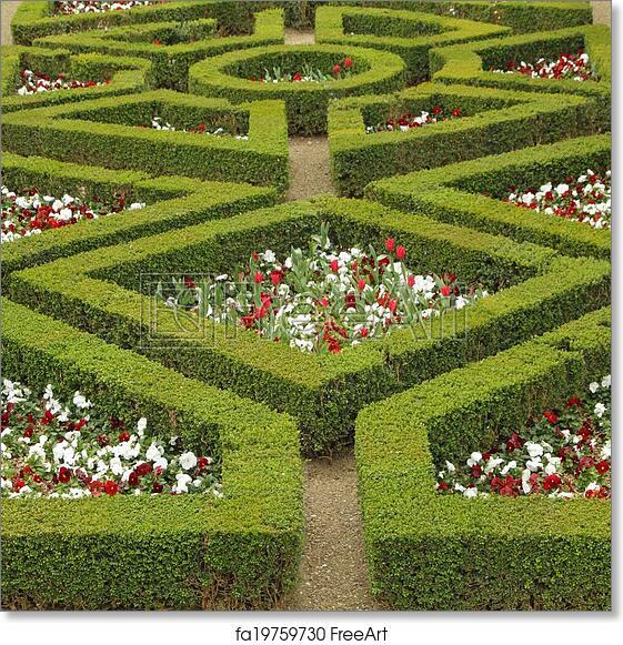 Free art print of Maze flowerbed in Boboli Gardens in Florence ...