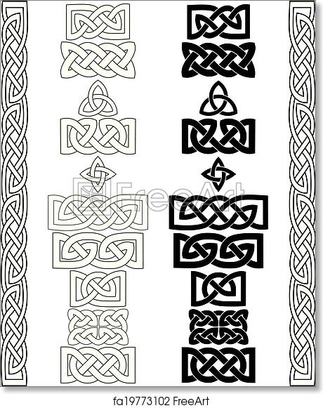 photo about Printable Celtic Knot Patterns known as Free of charge artwork print of Celtic knots, layouts, frameworks vector
