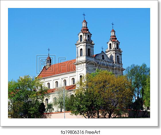 Last Days Of St Raphaels Cathedral >> Free Art Print Of Church Of St Raphael The Archangel In Vilnius