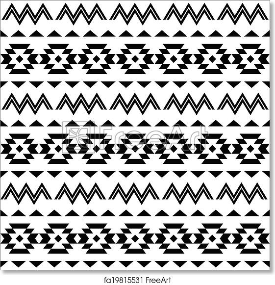 Free Art Print Of Tribal Pattern Aztec Background Vector Folk Classy Aztec Tribal Pattern