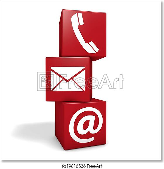Free Art Print Of Web Contact Us Cubes Web And Internet Contact Us