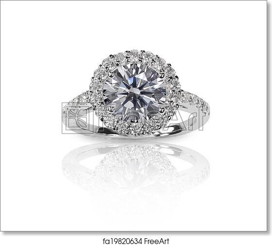 Beautiful Wedding Rings.Free Art Print Of Beautiful Diamond Wedding Ring Set With Multiple Diamonds Within A Gold Or Platinum Setting