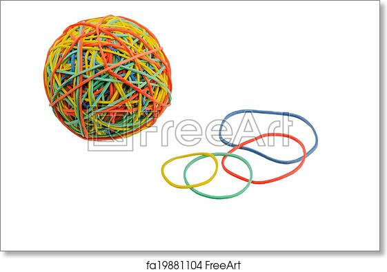 graphic regarding Free Printable Money Bands referred to as Cost-free artwork print of Elastic bands for economic
