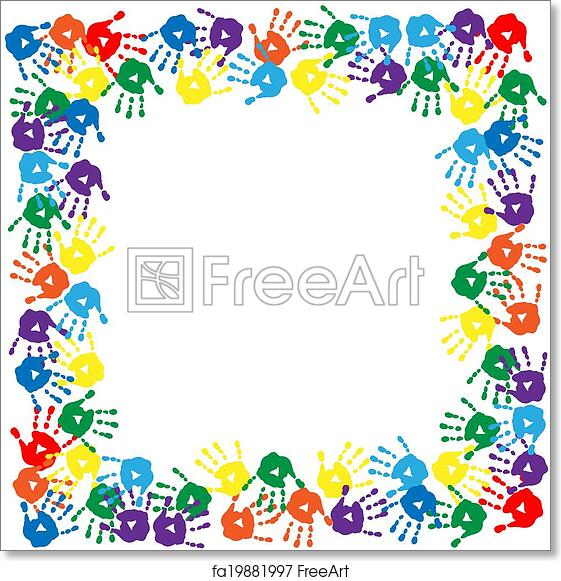 photograph about Free Printable Artwork to Frame called Totally free artwork print of Body of vibrant hand prints