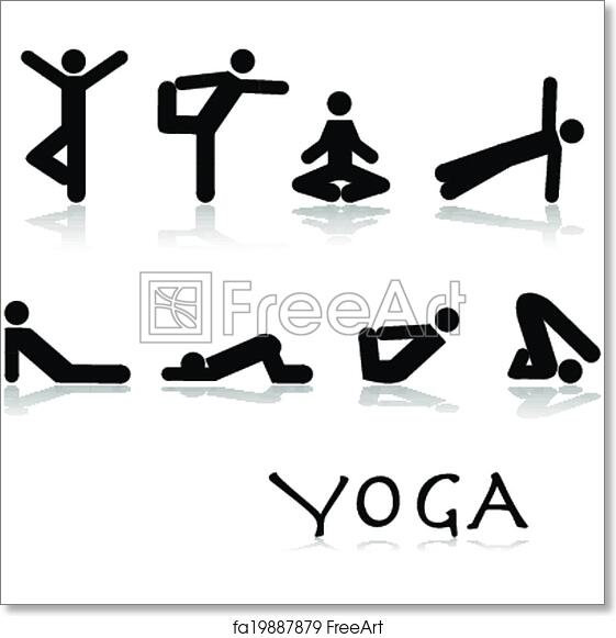 graphic about Free Printable Yoga Poses titled No cost artwork print of Yoga poses